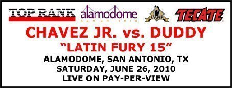Chavez Duddy FIGHT CALENDAR for June 2010