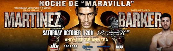 martinez barker FIGHT CALENDAR for October 2011