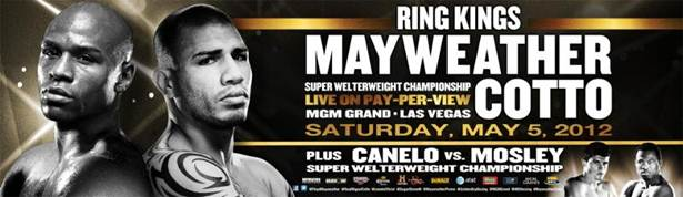 Mayweather Cotto FIGHT CALENDAR for May 2012