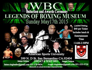 WBC Legends Flyer
